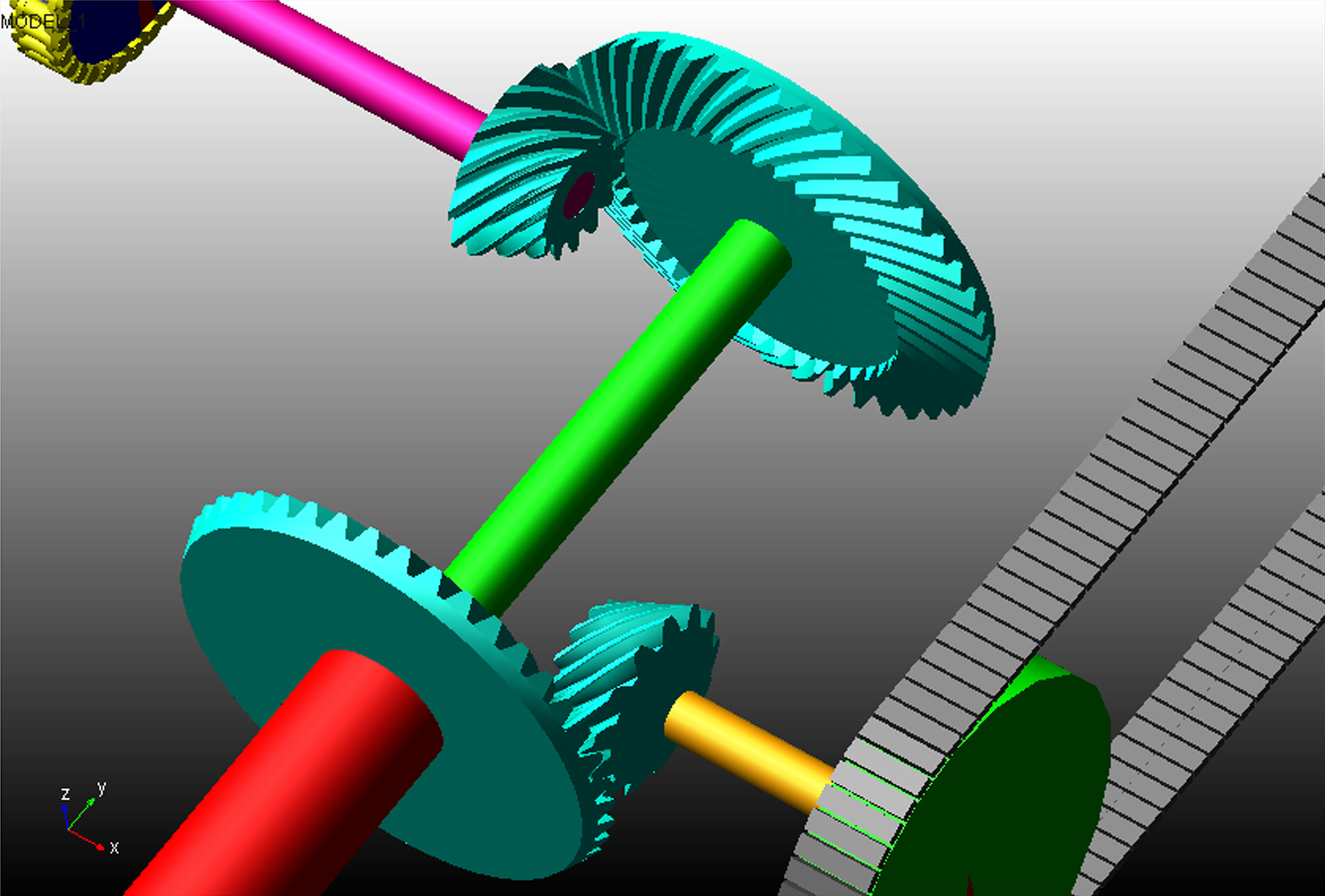 Bevel Gear Animation : Adams machinery simulation suite for mechanical drive