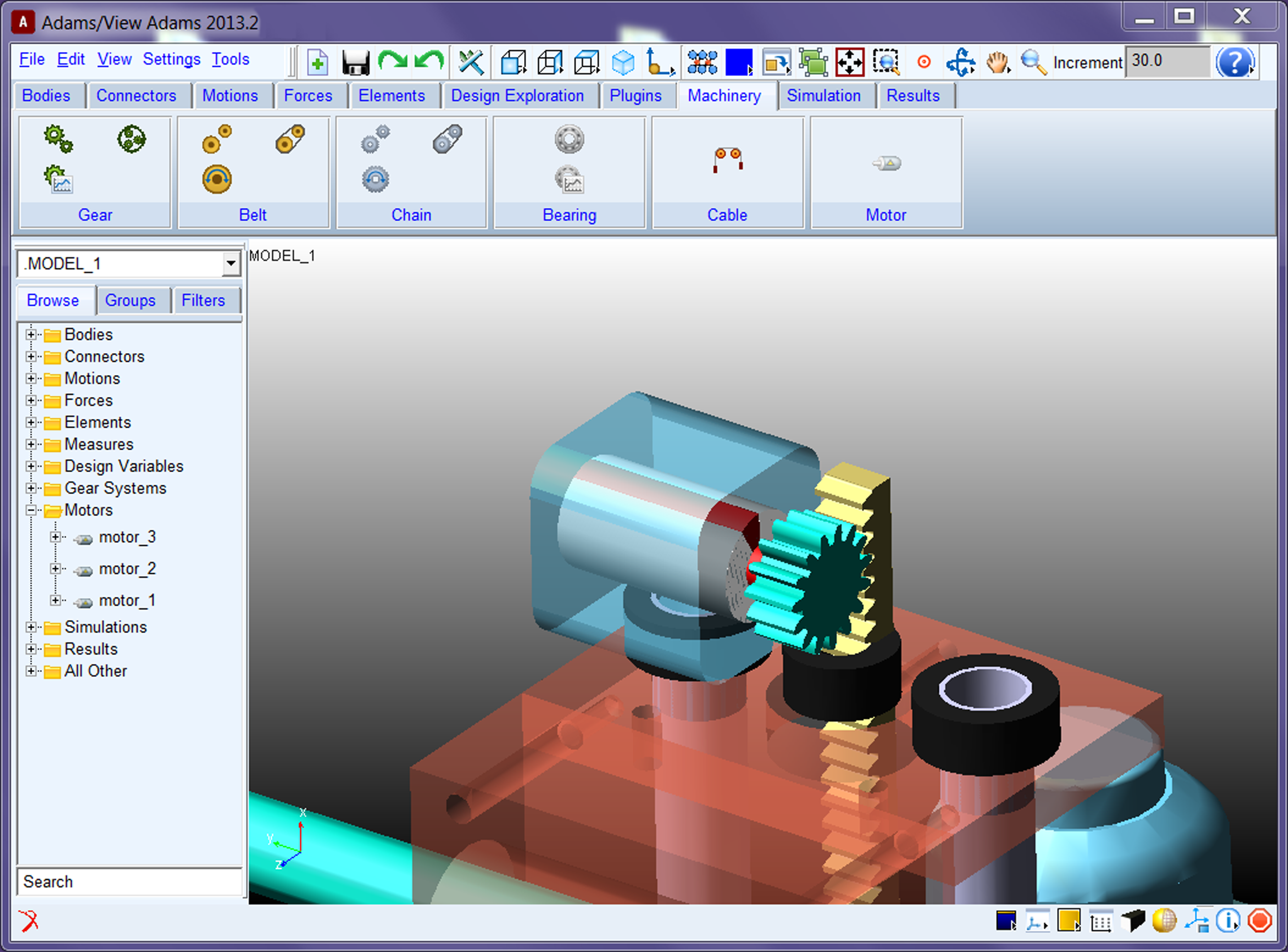 Adams machinery simulation suite for mechanical drive for Online 3d program