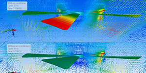 Cradle CFD Innovation that Achieves Excellent Indoor Air Circulation